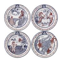 Десертная тарелка. Fables de La Fontaine