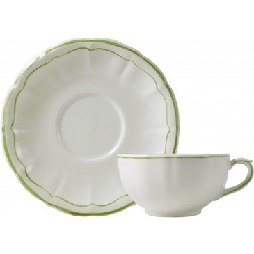 Набор из 2 чашек с блюдцем для завтрака. Filet Vert