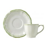 Набор из 2 чашек для чая с блюдцем. Filet Vert