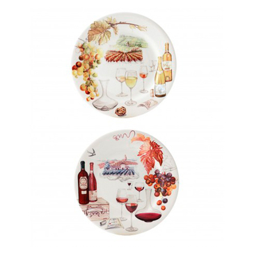 Десертная тарелка Вино. Bouquet gien