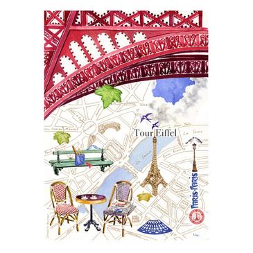 Набор из 4 кухонных полотенец. Paris-Paris