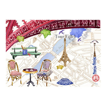 Салфетка текстильная с влагоотталкивающим покрытием. Paris-Paris