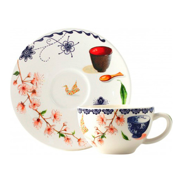 Чашка для чая с блюдцем. Teatime