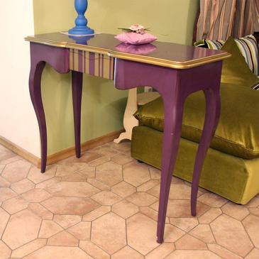 Классическая консоль Фиолетовая с золотом