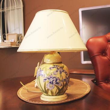 """Лампа желтая """"ирисы"""""""