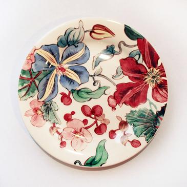 Тарелка для канапе. Clématites