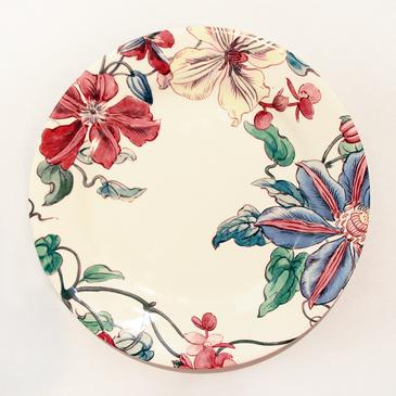 Десертная тарелка. Clématites