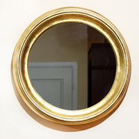 Зеркало круглое - золото