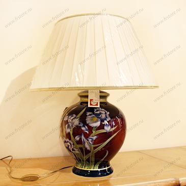 "Лампа бордо ""ирисы"""