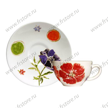 Чашка для чая с блюдцем. Jacinthe