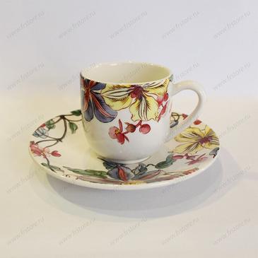 Чашка для кофе с блюдцем. Clematites gien