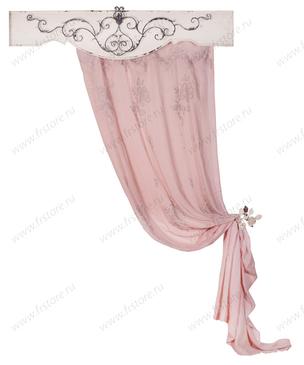 Нежные розовые шторы с бабочками