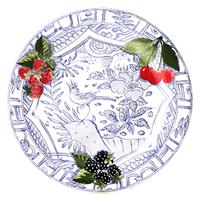 Набор из 4 обеденных тарелок. Oiseau Bleu Fruits