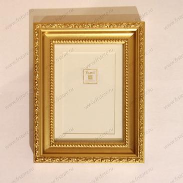 Рамка с паспарту золото