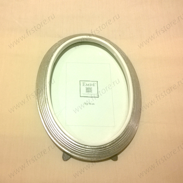 Рамка овальная серебро