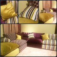 Французский диван MALDIVES угловой, модульный с подушками