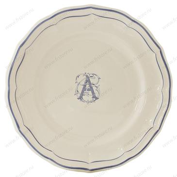 Тарелка для канапе Filet Bleu Monogramme gien