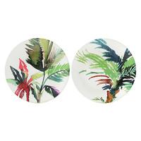 Тарелка для канапе Тропические листья Jardins Extraordinaires gien