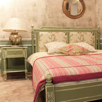 "Кровать ""Terre Blanche"" фисташковая"